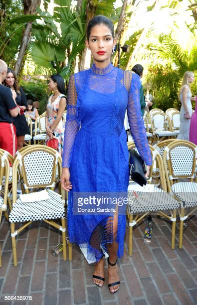 Cris Urena attends CFDA/Vogue Fashion Fund Show and Tea at Chateau Marmont at Chateau Marmont on October 25 2017 in Los Angeles California
