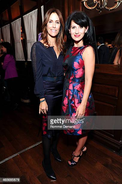 Crisina Cuomo and Hilaria Baldwin attend the Beach magazine celebration with cover star Hilaria Baldwin at Bobby Van's Grill on January 28 2014 in...