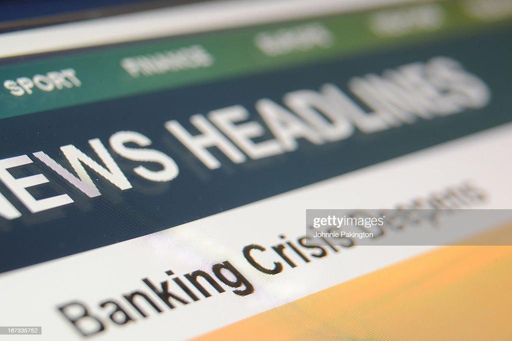 Crisis Headline : Foto de stock