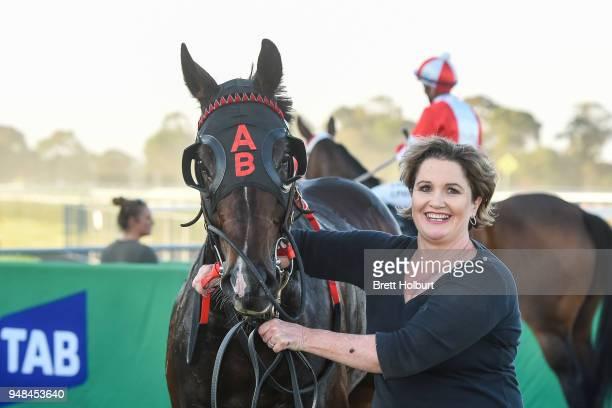 Crisis Point after winning the Werribee Open Range Zoo BM58 Handicap at Werribee Racecourse on April 19 2018 in Werribee Australia