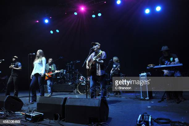 Crisis Skylight Band perform on stage during the annual Crisis charity concert at Eventim Apollo Hammersmith on December 20 2013 in London United...