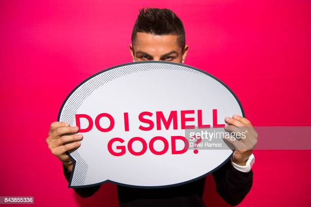 Crisitiano Ronaldo celebrates the launch of his new fragrance CR7 on September 7 2017 in Madrid Spain