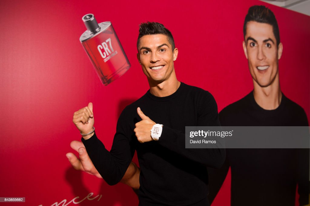 Crisitiano Ronaldo celebrates the launch of his new fragrance CR7 on September 7, 2017 in Madrid, Spain.