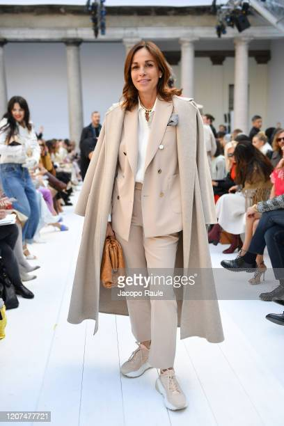 Crisitina Parodi attends the Max Mara fashion show on February 20 2020 in Milan Italy