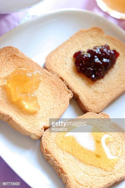 Crispbread and Jam Breakfast Italy
