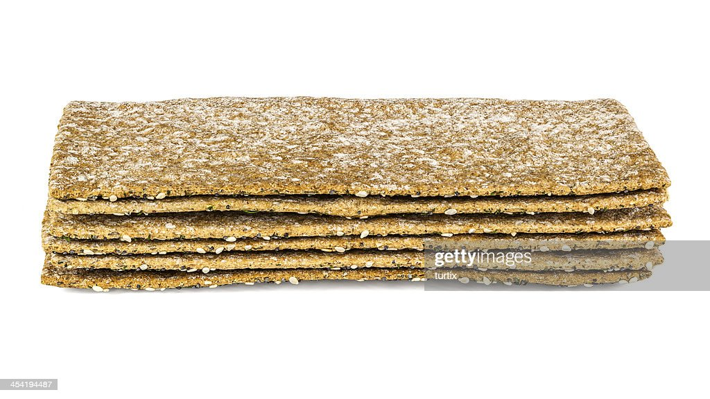 crispbread stack : Stock Photo