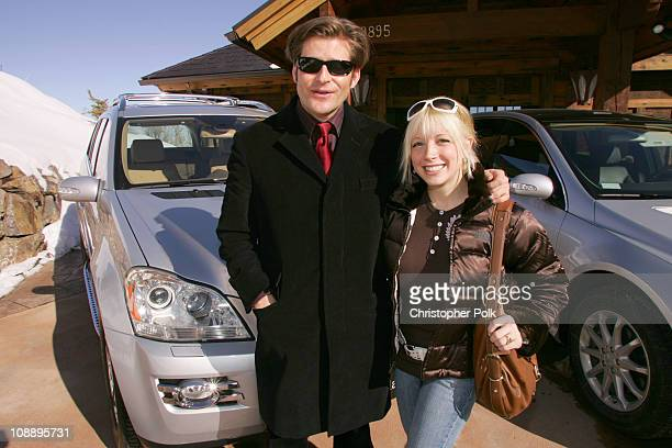 Crispin Glover and Courtney Peldon with Merecedes - Benz gl class at The North Face House *Exclusive Coverage*