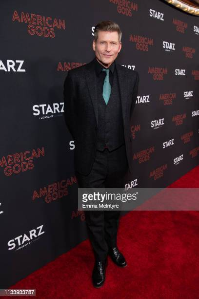 Crispin Glover arrives at the premiere of STARZ's 'American Gods' Season 2 at Ace Hotel on March 05 2019 in Los Angeles California
