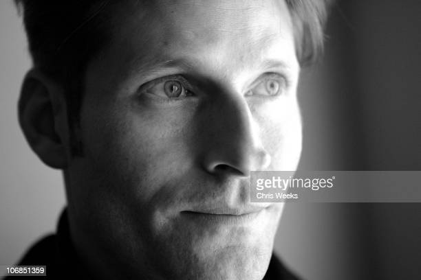 Crispin Glover at Activision & St. Jude House during 2005 Sundance Film Festival & Park City - Black & White Photography by Chris Weeks in Park City,...