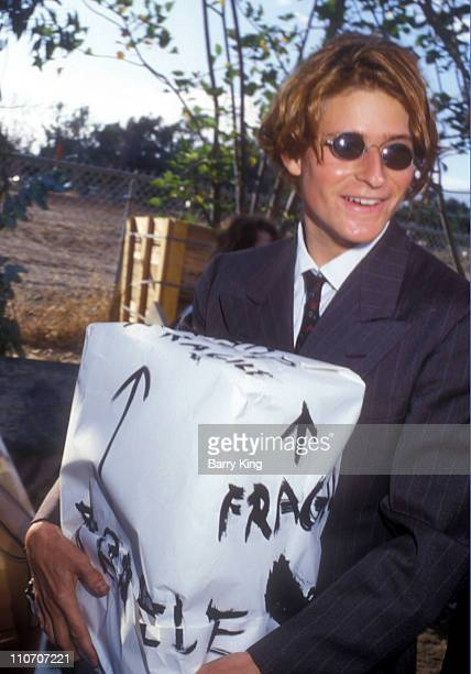 Crispin Glover during Madonna and Sean Penn Wedding August 16 1985 Arrivals at Private Residence in Malibu California United States
