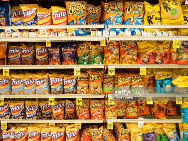 Crisps for sale in a supermarket in the Richardson district of DallasDallas is a major city in Texas and is the largest urban center of the fourth...