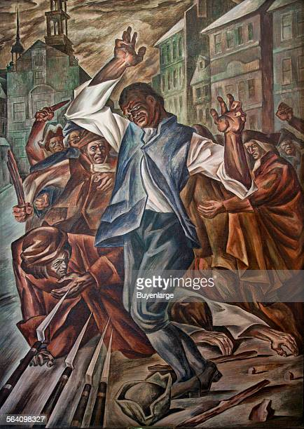Crispus Attucks by Herschel Levit mural at the Recorder of Deeds building built in 1943 515 D St NW Washington DC