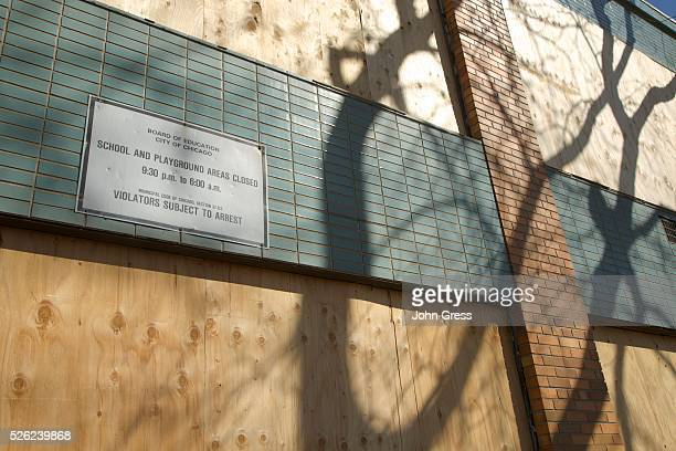 Crispus Attucks Elementary School which was closed years ago is boarded up in Chicago Illinois is closed March 22 2013 Chicago will close 54 schools...