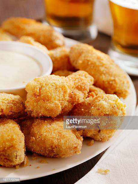 crispy chicken wings and beer - fritter stock photos and pictures
