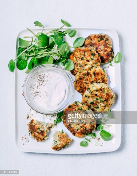 crispy fish cakes - breaded stock photos and pictures