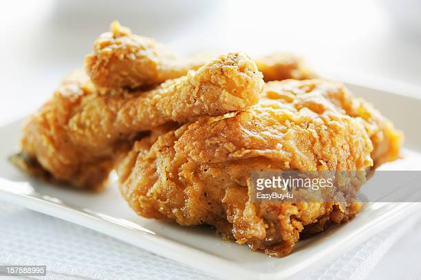 Crispy fried breast and legs from chicken