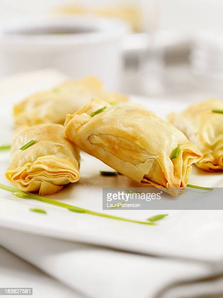 Crispy Mushroom and Leek Stuffed Phyllo Pastry Appetizers