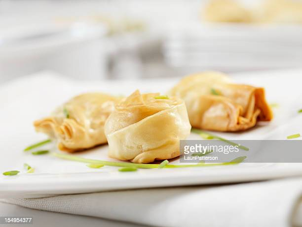 crispy stuffed phyllo pastry appetizers - appetiser stock photos and pictures
