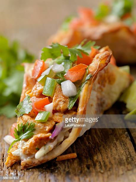 Crispy Wonton Chicken Tacos