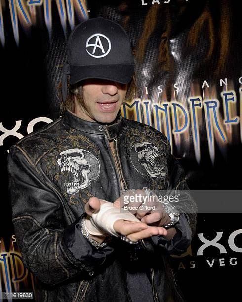 Criss Angel during Criss Angel 'MINDFREAK' Las Vegas Premiere at Luxor Theater Luxor Hotel Casino in Las Vegas Nevada United States