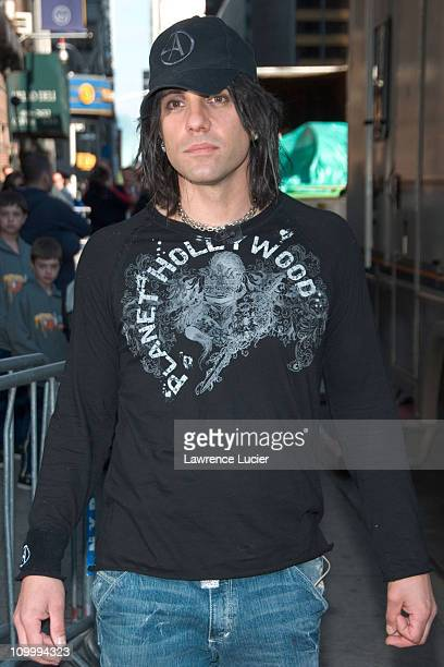 Criss Angel during Dixie Chicks and Criss Angel Appear Outside Late Show with David Letterman at Ed Sullivan Theater in New York New York United...