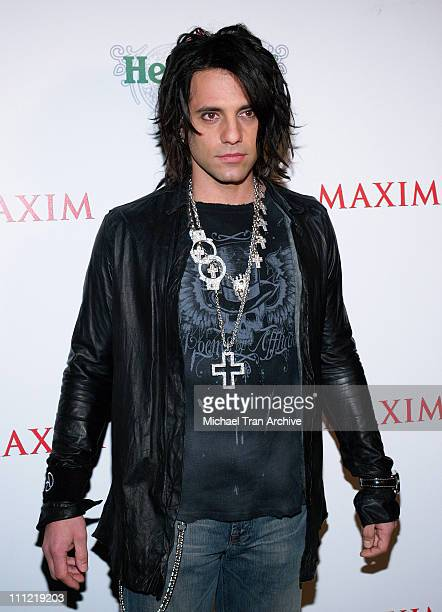 Criss Angel during Maxim Unveiling the New Heineken Premium Light at Mood in Hollywood CA United States