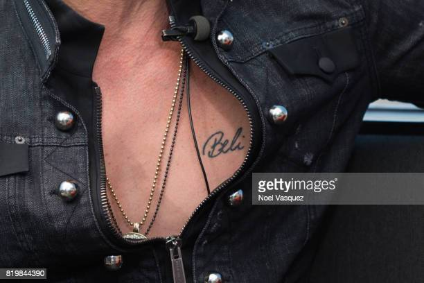 Criss Angel tattoo detail visits 'Extra' at Universal Studios Hollywood on July 20 2017 in Universal City California