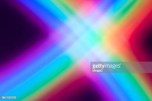crisscross rainbow pattern - spectrum stock photos and pictures