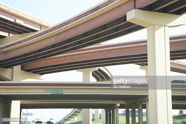 Crisscrossing freeway overpasses