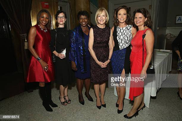 Cristal Chancellor Lauren Wolfe Gwen Ifill Judy Woodruff Diane Lane and Kate McCarthy attend The Women's Media Center 2015 Women's Media Awards on...