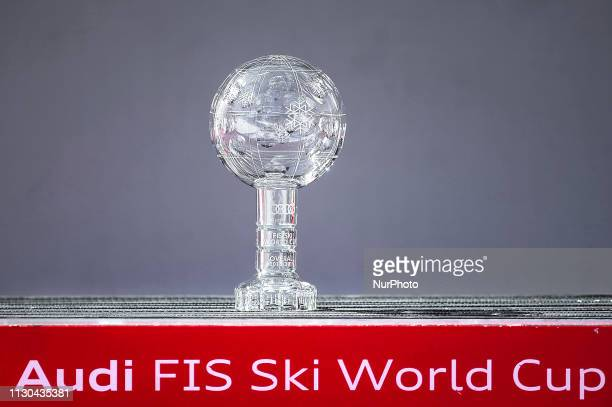 Cristal Globe trophy of Mens SuperG Audi FIS Ski World Cup on March 14 2019 in El Tarter Andorra