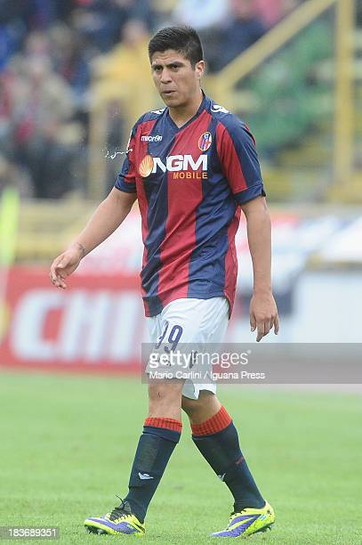 Cristaldo of Bologna FC shows his dejection during the Serie A match between Bologna FC and Hellas Verona FC at Stadio Renato Dall'Ara on October 6...
