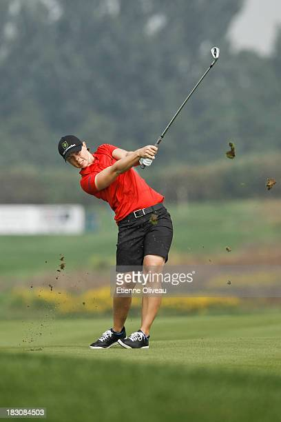Cristel Boeljon of Netherlands hits a fairway shot during the second round of the Reignwood LPGA Classic at Pine Valley Golf Club on October 4 2013...