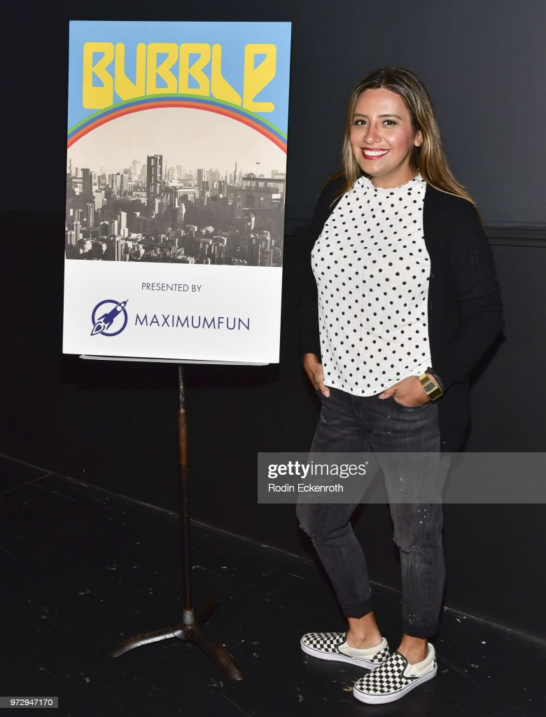 Cristela Alonzo poses for portrait at the MaximumFun.org Comedy Podcast photo call at Dynasty Typewriter at the Hayworth on June 12, 2018 in Los Angeles, California.