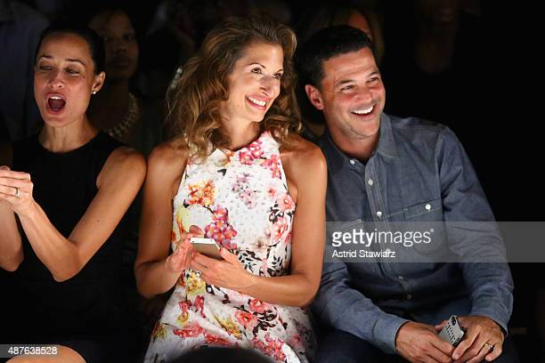 Cristen Barker actress Alysia Reiner and actor David Alan Basche attend the Kids Rock fashion show during Spring 2016 New York Fashion Week The Shows...
