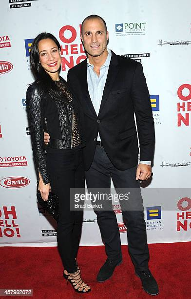Cristen Barker and Nigel Barker attend Oh Hell No Opening Night arrivals at New World Stages on October 27 2014 in New York City
