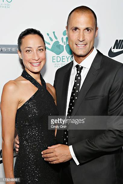 Cristen Barker and Nigel Barker attend the 2013 Edeyo Gives Hope Ball at Highline Ballroom on July 10 2013 in New York City