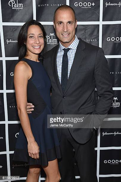 Cristen Barker and Nigel Barker attend the New York Fatherhood Lunch to benefit GOOD Foundation on October 18 2016 in New York City