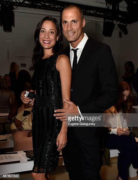 Cristen Barker and Nigel Barker attend the Nicole Miller show during Spring 2016 New York Fashion Week at The Gallery Skylight at Clarkson Sq on...