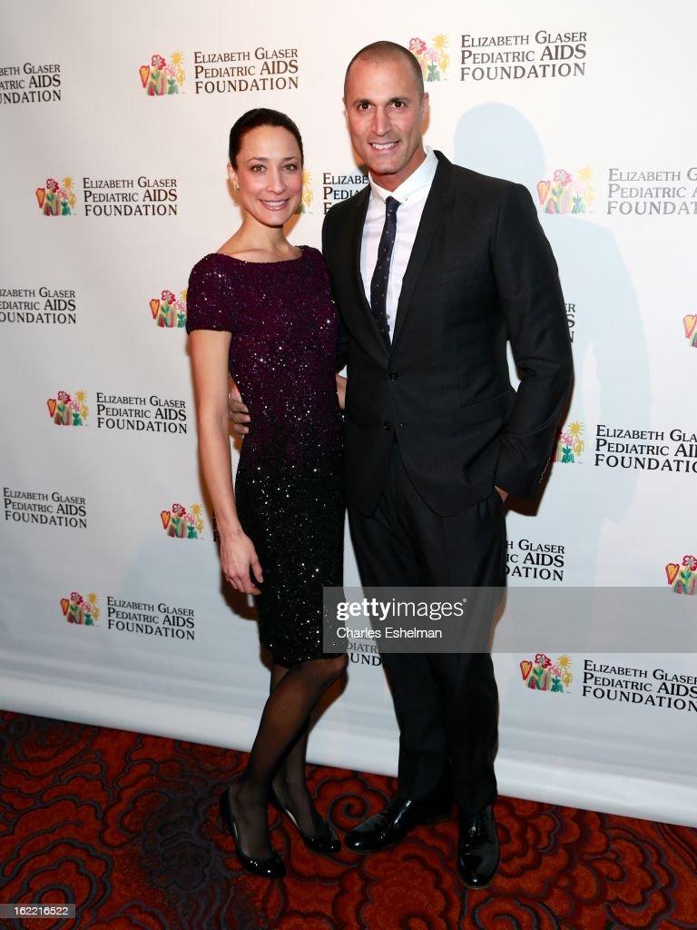 Cristen Barker and photographer Nigel Barker attend the 2013 Elizabeth Glaser Pediatric AIDS Foundation awards dinner at Mandarin Oriental Hotel on February 20, 2013 in New York City.