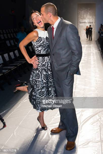 Cristen Barker and photographer Nigel Barker attend the Pamella Roland show during Spring 2014 MercedesBenz Fashion Week at The Studio at Lincoln...