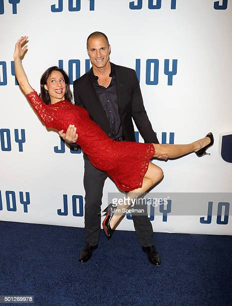Cristen Barker and photographer Nigel Barker attends the Joy New York premiere at the Ziegfeld Theater on December 13 2015 in New York City