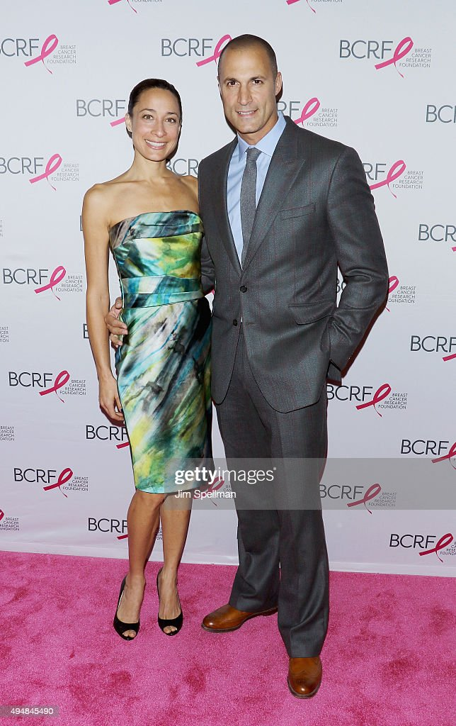 Cristen Barker and photographer/TV personality Nigel Barker attend the 2015 BCRF Awards Gala at The Waldorf=Astoria on October 29, 2015 in New York City.