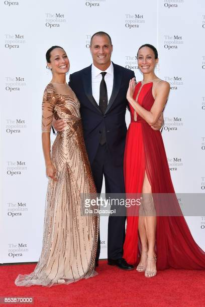 Cristen Barker Nigel Barker and Kimberly Hise attend the 2017 Metropolitan Opera Opening Night at The Metropolitan Opera House on September 25 2017...