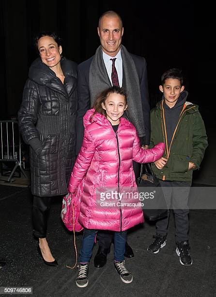 Cristen Barker Nigel Barker Jasmine Ines Barker and Jack Barker are seen at The Dock Skylight at Moynihan Station during Fall 2016 New York Fashion...