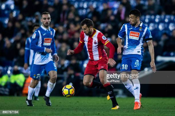 07 Cristhian Stuani from Uruguay of Girona FC during the La Liga match between RCD Espanyol v Girona FC at RCD Stadium on December 11 2017 in...