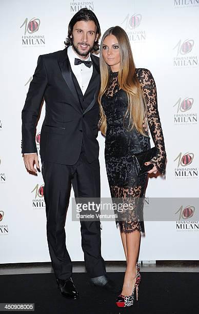 Cristian and Alessia Zaccardo attend Fondazione Milan 10th Anniversary Gala on November 20, 2013 in Milan, Italy.