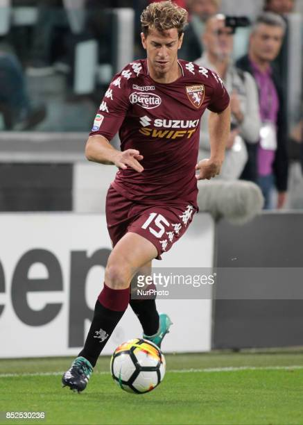 Cristian Ansaldi during Serie A match between Juventus v Torino in Turin on September 23 2017