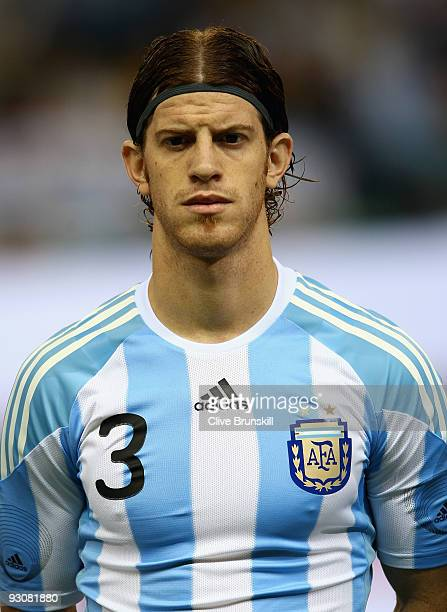 Cristian Ansaldi of Argentina during the friendly International football match Spain against Argentina at the Vicente Calderon stadium in Madrid on...