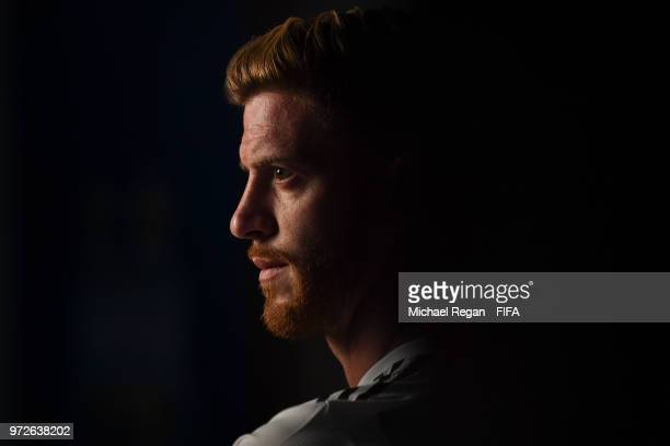 Cristian Ansaldi of Argentina poses during the official FIFA World Cup 2018 portrait session at on June 12 2018 in Moscow Russia